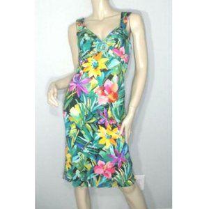 NWT Blumarine Stretchy Floral Beaded Dress 44